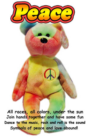Ty Peace Bear Beanie Babies 8cd789da1769
