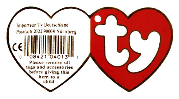 1b75202787f Ty Beanie Baby Babies Swing Heart Hang Tags