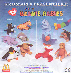 Germany also distributed their own selection of Teenie Beanie pins to  employees in 1999 that were of the s ame US Teenies given away in 1998. 2e2804814d8